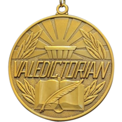 Valedictorian Medallion w/ Neck Ribbon