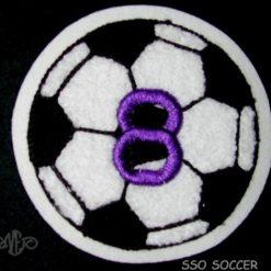 Soccer Ball 4 Back Patch