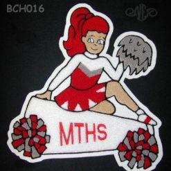 Cheerleader 18 Back Patch