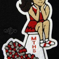 Cheerleader 17 Back Patch