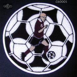 Soccer Ball 9 Back Patch