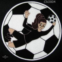 Soccer Goalie 3 Back Patch
