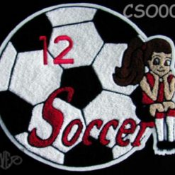 Soccer Ball 12 Back Patch
