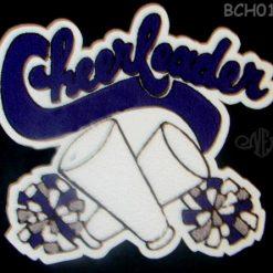 Cheerleader 20 Back Patch