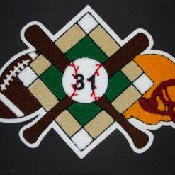 Multi Sport Baseball and Football Back Patch