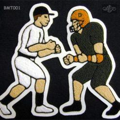 Multi Sport Baseball and Football #2 Back Patch