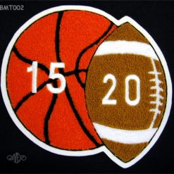 Multi Sport Basketball and Football Back Patch