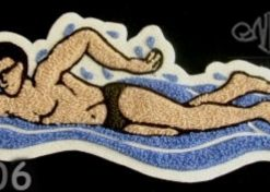 Swimming and Diving 6 Back Patch