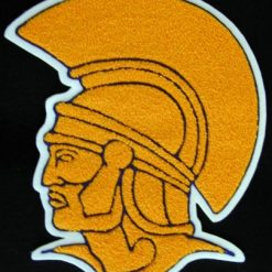 Mascot Trojan Back Patch