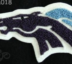 Mascot Mustang Back Patch