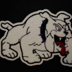 Mascot Bull Dog Back Patch