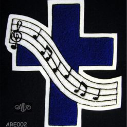Cross with Music Staff Back Patch