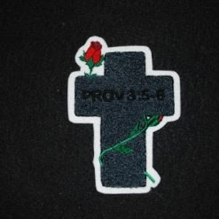 Cross  with Rose Back Patch