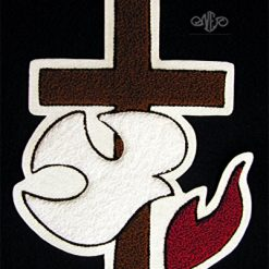 Cross with Dove Large Back Patch