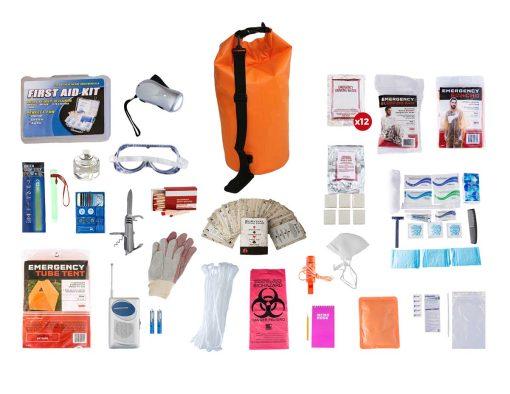 1 Person dry bag survival kit
