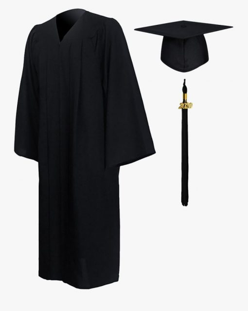 Black cap and gown