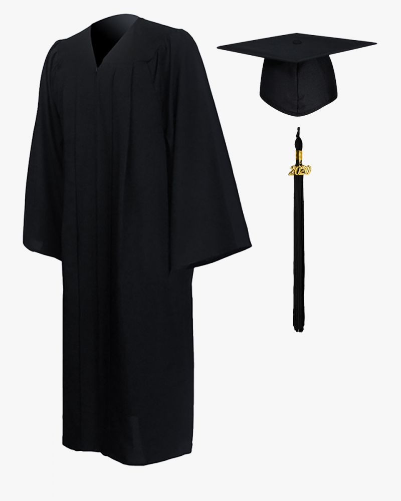 Black keeper cap and gown unit